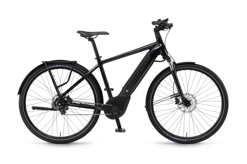 Svart elcykel Winora